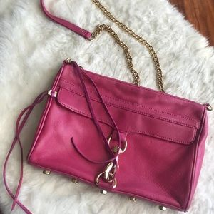 Rebecca Minkoff MAC Crossbody Bag in Fuchsia Pink
